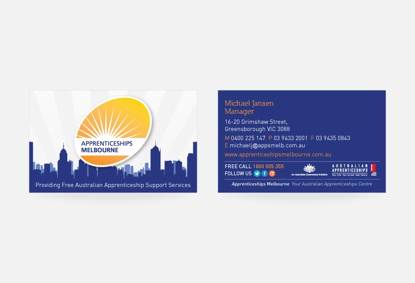Apprenticeships Business Card