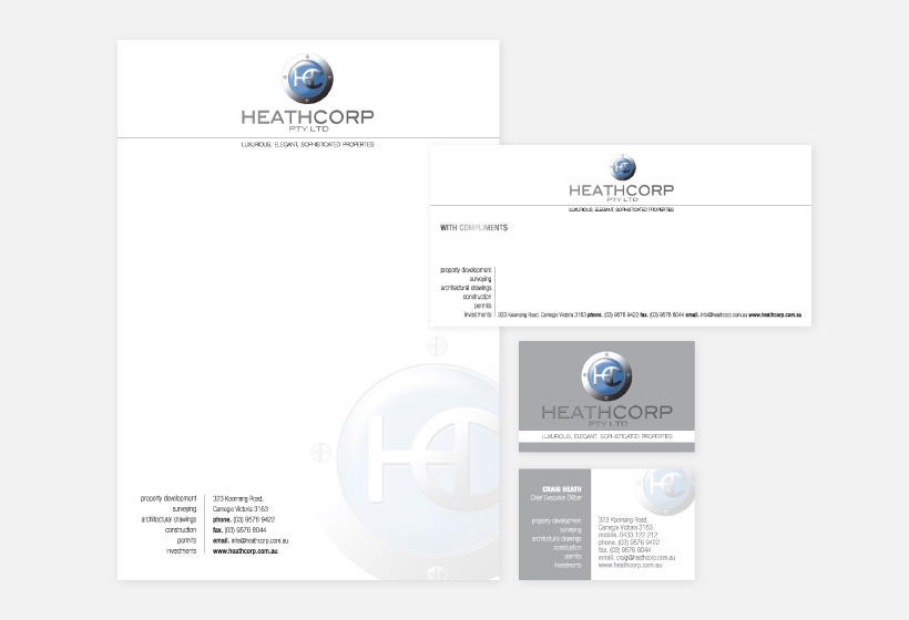 Heathcorp Business Stationery Design