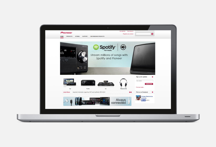 Pioneer And Spotify Web Banner